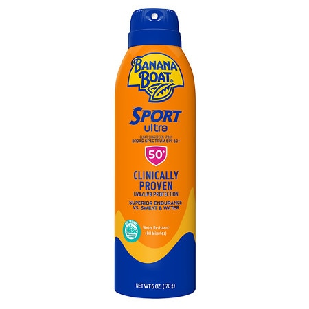 Banana Boat UltraMist Sport Performance Continuous Spray Sunscreen, SPF 50+ - 6 oz.