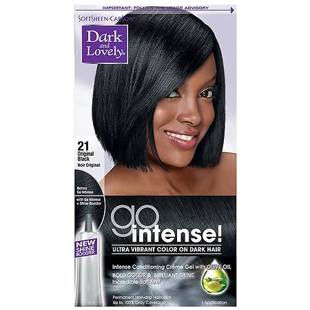 SoftSheen-Carson Dark and Lovely Go Intense! Hair Color, Original Black