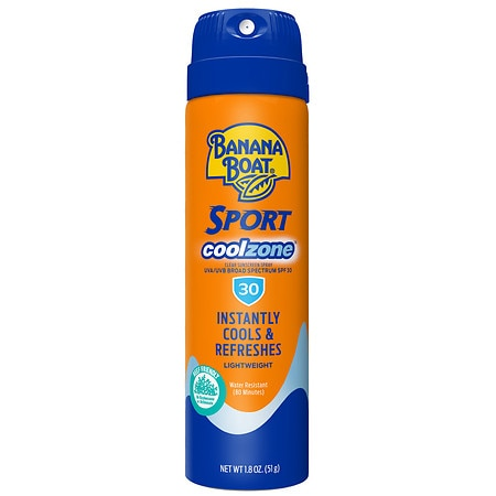 Banana Boat Sport CoolZone Continuous Spray, SPF 30 - 1.8 oz.