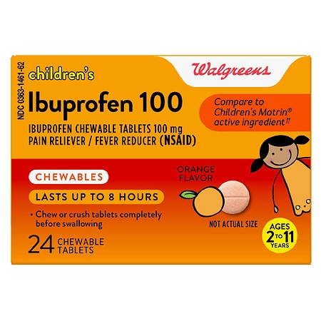 Walgreens Ibuprofen Children's Chewable Tablets Orange - 24 ea
