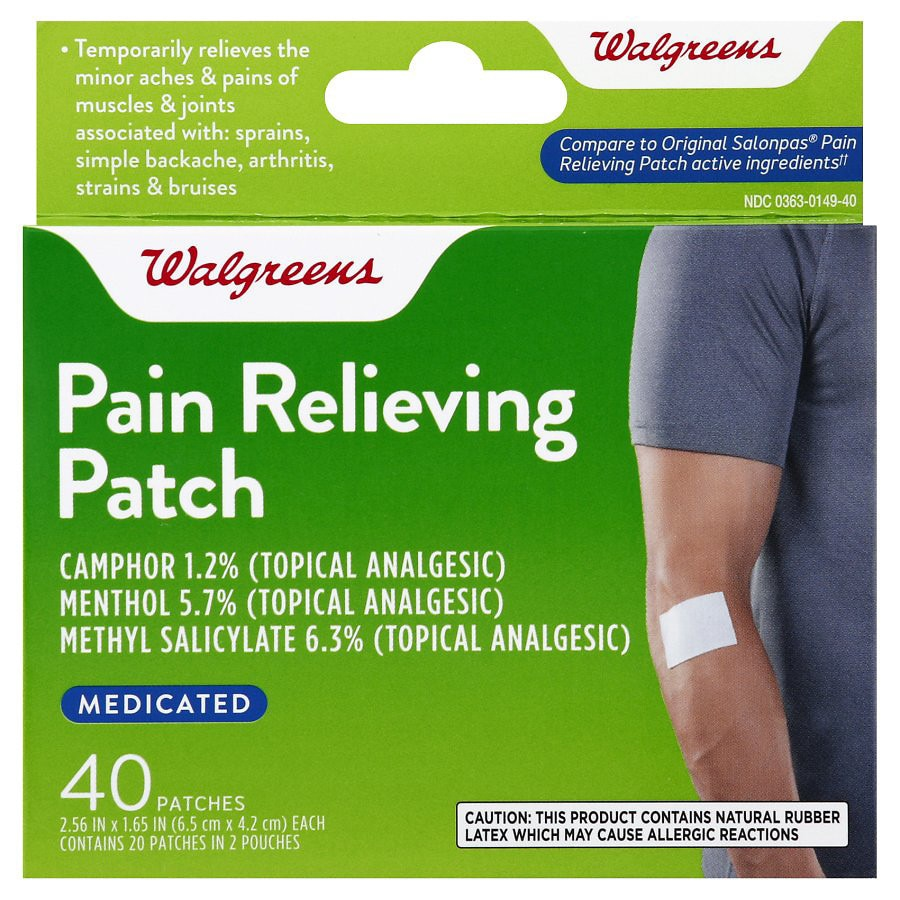 Walgreens Pain Relieving Medicated Patches Walgreens