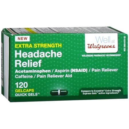 Walgreens Extra Strength Headache Relief Quick Gel Gelcaps - 80 ea