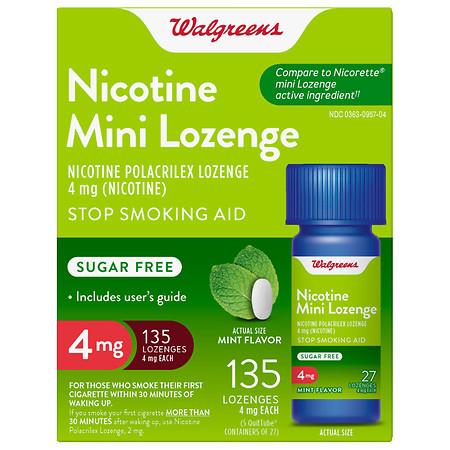 Walgreens Nicotine 4MG Mint Mini-Lozenges - 135 ea