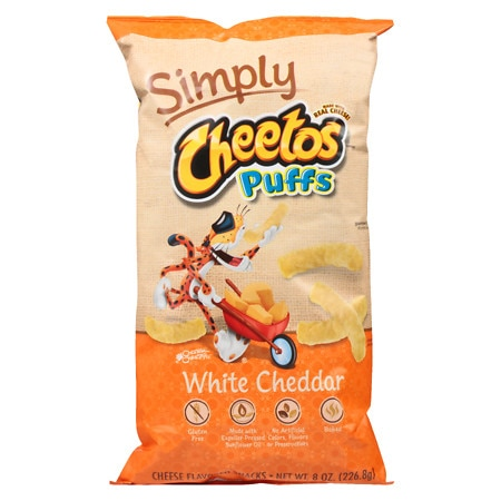Cheetos Simply Natural Cheese Flavored Snack Puffs White Corn - 8 oz.