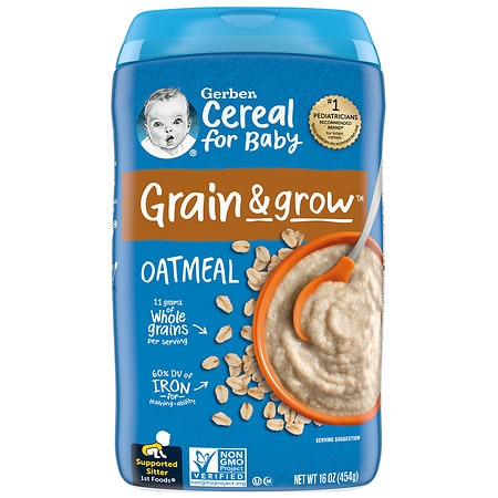 Gerber Oatmeal Cereal Single Grain - 16 oz.