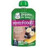 Gerber Organic 2nd Foods Pouches Banana Blueberry Blackberry Oatmeal