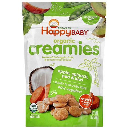 Happy Baby Organic Creamies Apple, Spinach, Pea & Kiwi