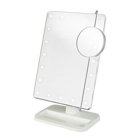Jerdon Portable Led Lighted Adjustable Makeup Mirror 10x