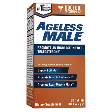 New Vitality Ageless Male, Support Testosterone, Tablets