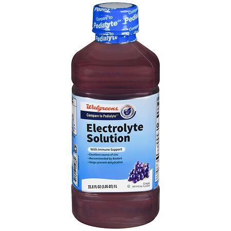 Walgreens Pediatric Oral Electrolyte Solution with Zinc Grape - 33.8 oz.