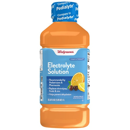 Walgreens Pediatric Oral Electrolyte Solution with Zinc Fruit - 33.8 oz.