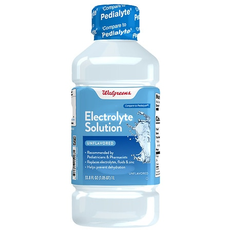 Walgreens Pediatric Oral Electrolyte Solution with Zinc Unflavored