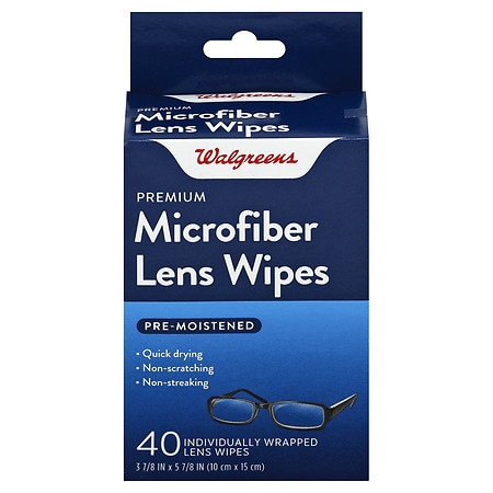 Walgreens Pre-Moistened Lens Wipes - 40 ea