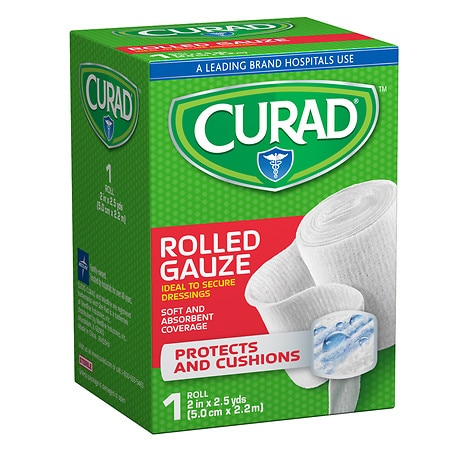 Curad Pro-Sorb Rolled Gauze Sterile Roll 2 in x 2.5 yds (50 mm x 2.2 m) - 1 ea