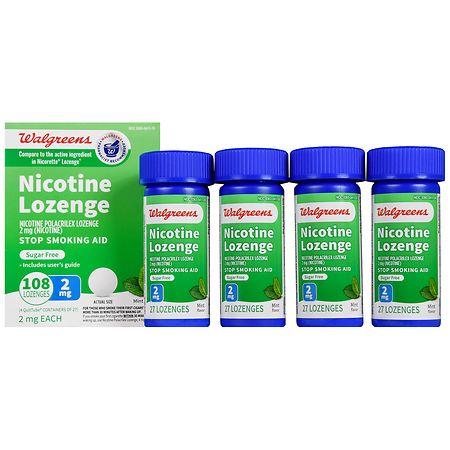 Walgreens Nicotine Lozenge, 2 mg Mint - 108 EA