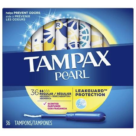 Tampax Plastic Tampons, Scented Scented, Regular - 36 ea