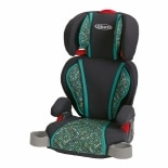 wag-Highback Turbo Booster Car SeatGrey & Teal Mosiac