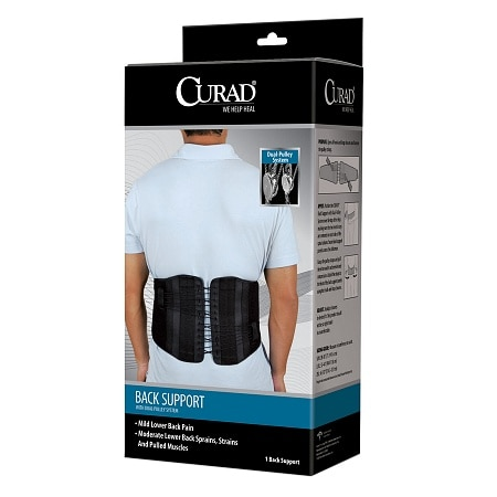 Curad Back Support with Dual-Pulley System Small-Medium - 1 ea