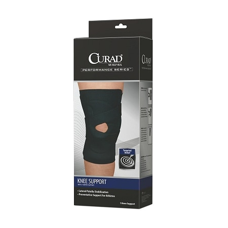 Curad Knee Support Neoprene J-Shape, Right X-Large - 1 ea
