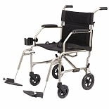 Medline Freedom Ultra-Lightweight Transport Chair 19 x 16 inch Silver