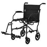Medline Freedom Ultra-Lightweight Transport Chair 19 x 16 inch Black