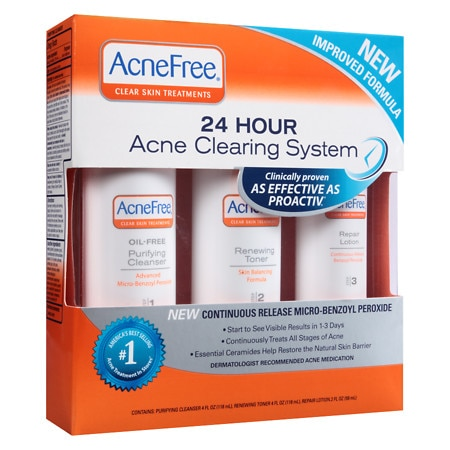 AcneFree 24 Hour Acne Clearing System - 1 set
