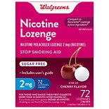 Walgreens Nicotine Stop Smoking Aid Lozenges 2 mg Cherry