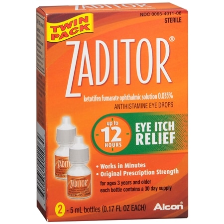 Zaditor Antihistamine Eye Drops - 0.34 fl oz x 2 pack