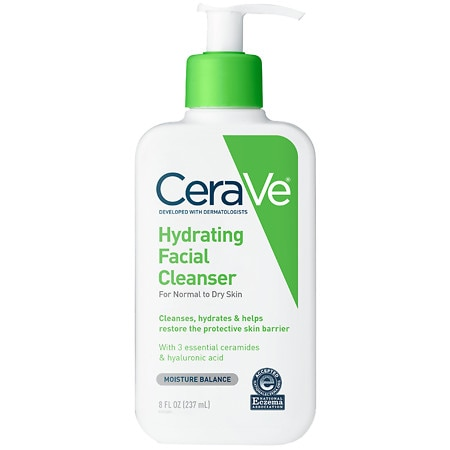 Hydrating Facial Cleanser for Normal to Dry Skin Fragrance Free - 8 fl oz