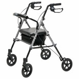 Lumex Set & Go Wide Height Adjustable Rollator Silver