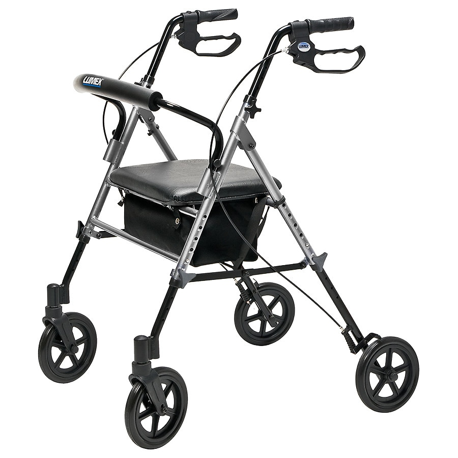 Sensational Lumex Set Go Wide Height Adjustable Rollator Silver Bralicious Painted Fabric Chair Ideas Braliciousco