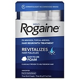 Rogaine Men's 5% Minoxidil Foam For Hair Regrowth Unscented