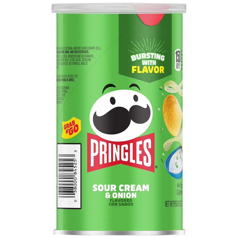 Pringles Potato Crisps Sour Cream & Onion | Walgreens
