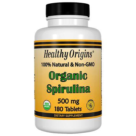 Healthy Origins Organic Spirulina 500mg, Tablets - 180 ea