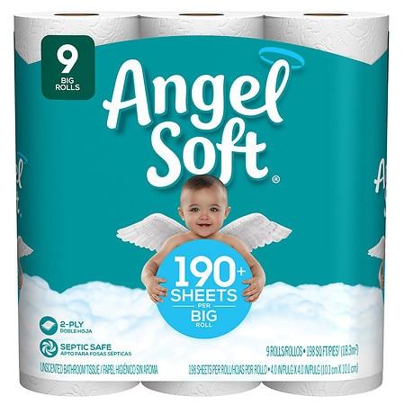 Angel Soft Bathroom Tissue Big Rolls - 198 ea x 9 pack