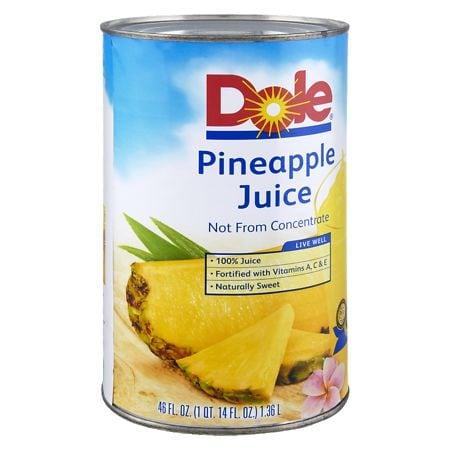 Dole 100% Pineapple Juice Can - 46 oz.