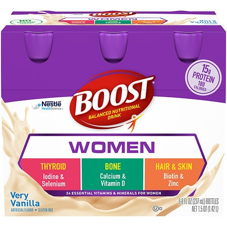 Boost Calorie Smart Balanced Nutritional Drink Vanilla, 8 oz Bottles, 6 pk