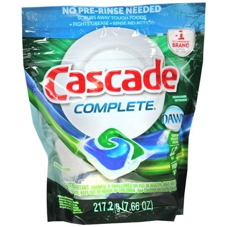 Cascade Complete Dishwasher Detergent Action Pacs Fresh - 12 ea