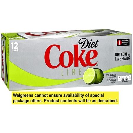 Diet Coke Soda 12 Pack 12 oz Cans Lime - 144 fl oz x 12 pack