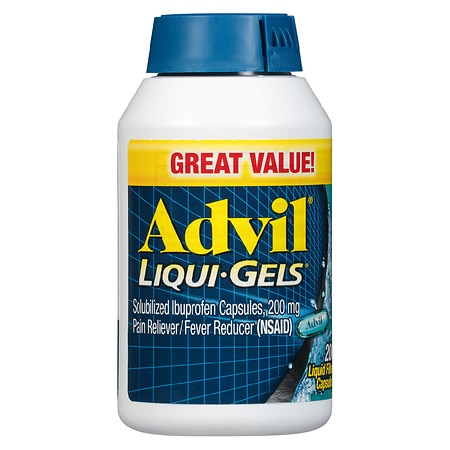 Advil Liqui-Gels Ibuprofen Pain Reliever/ Fever Reducer Capsules, 200mg - 20 ea
