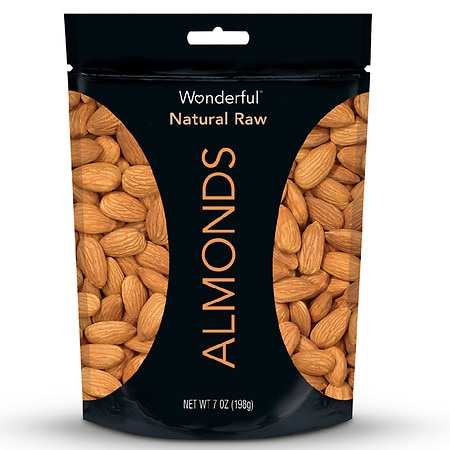 Wonderful Almonds Natural Raw - 7 oz.