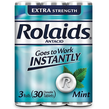 Rolaids Extra Strength Tablets Mint - 30 ea