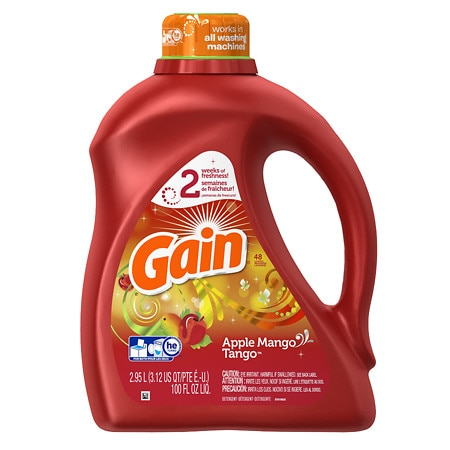 Gain Laundry Detergent Liquid Apple Mango Tango - 100.0 fl oz