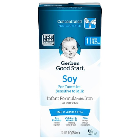 Gerber Good Start Soy Based Infant Formula with Iron Liquid Concentrate Makes approx 48.4oz