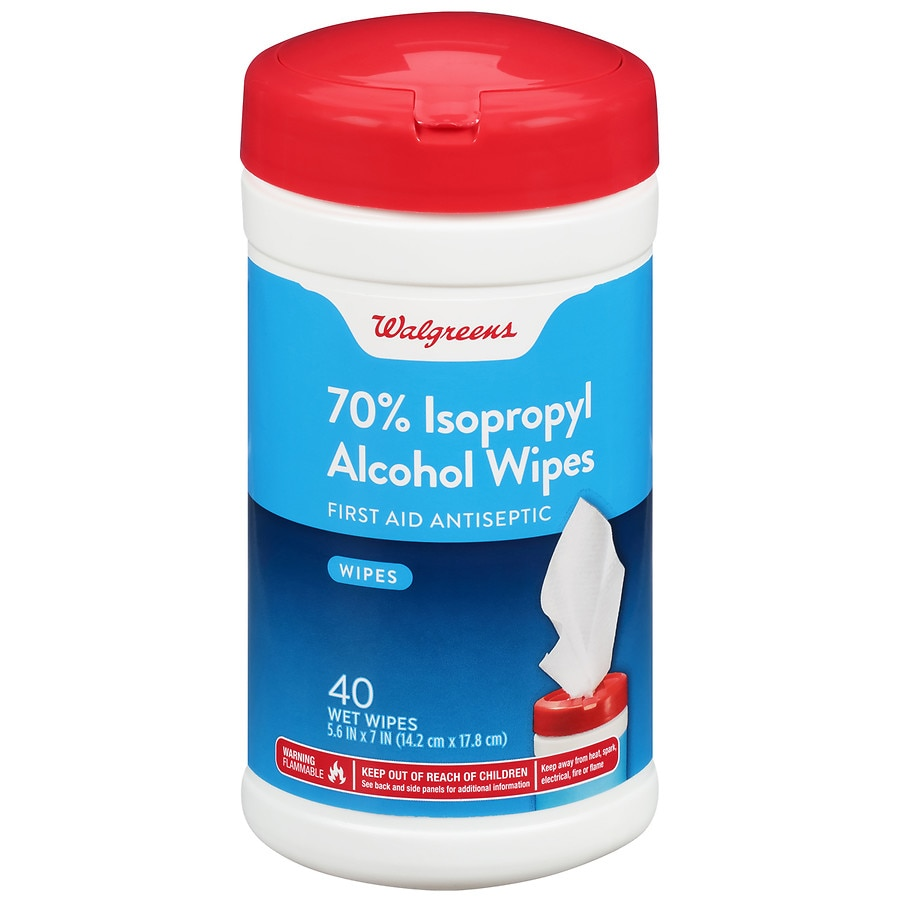Walgreens 70% Isopropyl Alcohol Wipes