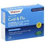 Walgreens Cold & Flu Relief Liquid Caps, Nighttime