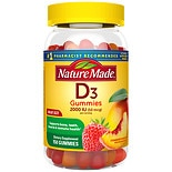 Nature Made Vitamin D3 Adult Gummies Strawberry, Peach, and Mango