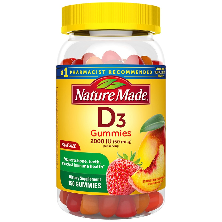 c15804c895b Nature Made Vitamin D3 Adult Gummies Strawberry