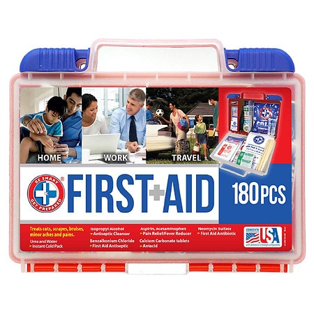 Be Smart Get Prepared First Aid Kit 180 Pieces - 1 kit
