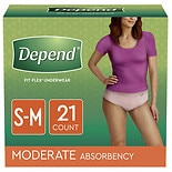 Depend Incontinence Underwear for Women, Moderate Absorbency Small/ Medium Peach